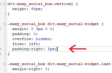 modifica al css del modulo easy social